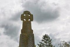 Keltisch kruis in Pembrokeshire, Wales, Engeland, het UK stock foto's