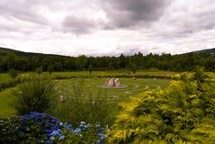 Keltisch labyrint in Wicklow, Ierland. stock foto