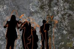 Keltisch Silhouet Royalty-vrije Stock Afbeeldingen