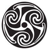 Keltisch symbool - tatoegering of kunstwerk Stock Illustratie