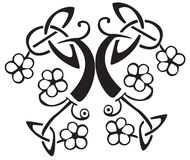 Keltische Blumenauslegung   Lizenzfreie Stockbilder