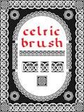Keltische borstel voor kader Stock Foto's