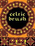 Keltische borstel voor kader Stock Afbeeldingen