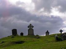 Keltische cementary stock afbeelding