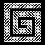 Keltische die knoop in spiraalvormige, vectorillustratie met de wijzers van de klok mee wordt gelegd Stock Afbeelding