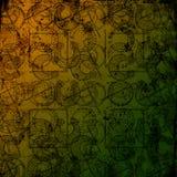 Keltische druïdehulpmiddelen 3 - Grungy achtergrond Stock Afbeelding