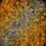 Keltische druïdehulpmiddelen 3 - Grungy achtergrond Stock Foto