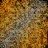 Keltische druïdehulpmiddelen 5 - Grungy achtergrond Stock Afbeeldingen
