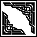 Keltische Ecken stock abbildung