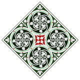 Keltische Fliesenverzierung lizenzfreie abbildung