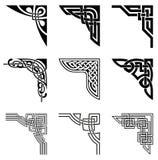 Keltische geplaatste hoeken Royalty-vrije Stock Afbeelding