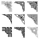 Keltische geplaatste hoeken Stock Afbeelding