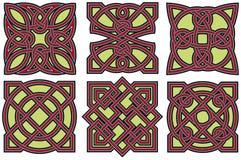 Keltische geplaatste ontwerpelementen Royalty-vrije Stock Fotografie