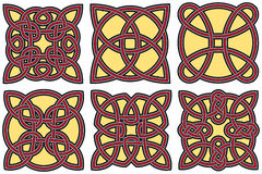 Keltische geplaatste ontwerpelementen Stock Foto's
