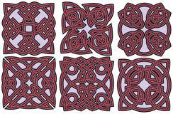 Keltische geplaatste ontwerpelementen Stock Afbeelding
