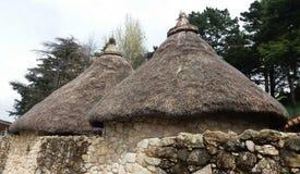 Keltische Häuser stockbilder