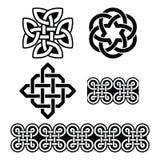 Keltische Ierse patronen en knopen -, St Patrick Dag Stock Foto