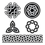 Keltische Ierse patronen en knopen -, St Patrick Dag Stock Afbeelding