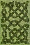 Keltische kaart of boekdekking Stock Foto