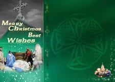 Keltische Kerstkaart stock illustratie