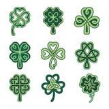 Keltische klaverpatronen vector illustratie