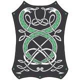 Keltische knooppatronen met slangen Stock Afbeeldingen