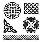 Keltische knopen, vlechten en patronen - St Patrick Dag in Ierland Stock Afbeeldingen