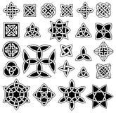 24 keltische Knoten stock abbildung