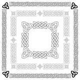 Keltische Knoten, Muster, Rahmenvektor Lizenzfreies Stockbild