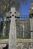 Keltische Knotenarbeit quer- Schottland Lizenzfreie Stockbilder