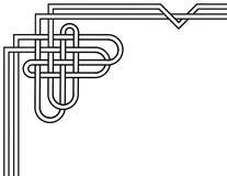 Keltische Knotenseitengrenze unter Verwendung eines Herzformthemas lizenzfreie stockbilder