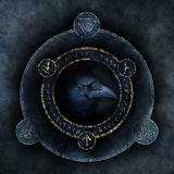 Keltische Krähen-Prophezeiung Stockfoto
