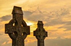 Keltische Kreuze lizenzfreies stockbild