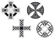 Keltische Kruisen Stock Afbeelding