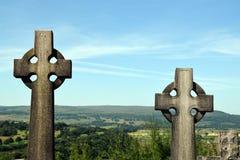 Keltische Kruisen - Schotse Begraafplaats Royalty-vrije Stock Afbeeldingen