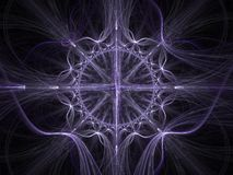 Keltische Kunst - Hintergrund des Fractal 3D Stockfoto