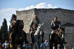 Keltische nachten in traditionele kostuums royalty-vrije stock afbeelding