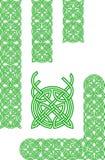 Keltische ornamentelementen Stock Afbeelding