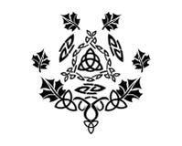 Keltische Ornamenten Vectorillustratie stock foto