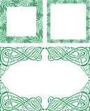 Keltische ornamentgrenzen stock illustratie
