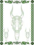 Keltische patroon en symbolen Stock Foto