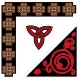 Keltische patroonreeks Stock Afbeeldingen
