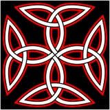Keltische Quaternaire knoop Royalty-vrije Stock Fotografie