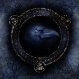 Keltische Raven Spell Stock Foto's