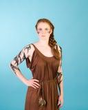 Keltische redhead schoonheid royalty-vrije stock afbeelding