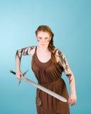 Keltische redhead schoonheid royalty-vrije stock fotografie