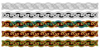 Keltische Ränder Stockfoto