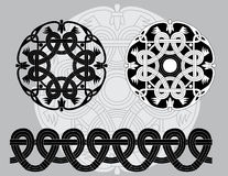 Keltische Schwarzweiss-Muster Lizenzfreie Stockbilder