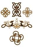 Keltische spiralen Stock Foto's