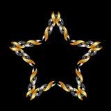 Keltische Sterntätowierung oder -dekoration Lizenzfreie Stockfotografie